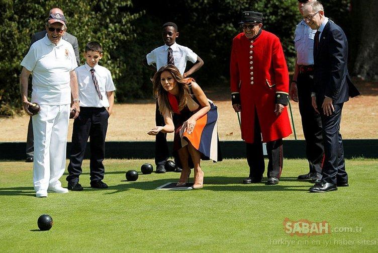 Tartışmalı İngiltere ziyaretinden şaşırtan kareler...