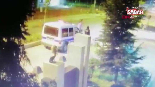 Eskişehir'de polisin başına defalarca telsizle vurmuştu! Görüntüler ortaya çıktı | Video