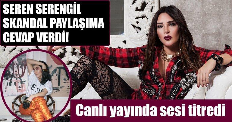 Seren Serengil çıplak fotoğrafını yayınlayan Hande Yener'e canlı yayında cevap verdi!