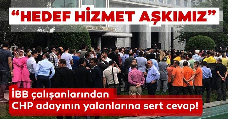 İBB çalışanları CHP'li İmamoğlu'nun iddialarını canlı yayında protesto etti