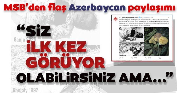 MSB'den, dikkat çeken 'Azerbaycan' paylaşımı