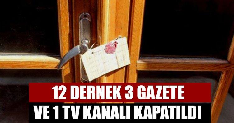 Son Dakika Haberi: 701 sayılı son OHAL KHK'sı ile 12 dernek kapatıldı! İşte kapatılan dernekler...