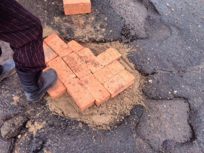 Rusların yol onarımı görenleri şaşırttı...