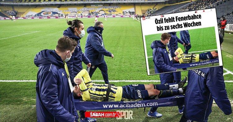 Son dakika: Avrupa Mesut Özil'in sakatlığına üzülüyor! Acı içinde yüzünü kapatıyordu...