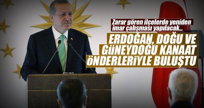 Erdoğan, Doğu ve Güneydoğu kanaat önderleriyle buluştu