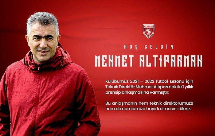 Samsunspor, Mehmet Altıparmak ile anlaştı 13
