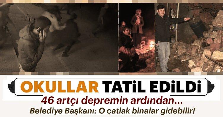 Korkutan depremin ardından Ayvacık'ta bugün okullar tatil edildi