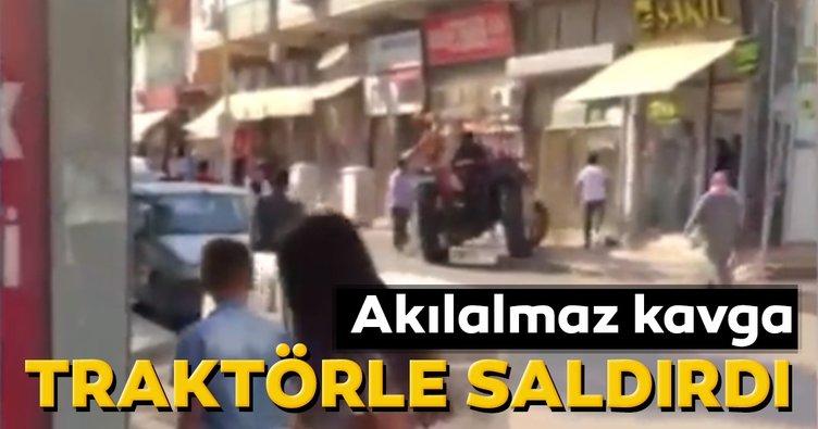 Şanlıurfa'da akılalmaz kavga! Traktörle saldırdı