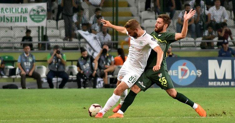 Atiker Konyaspor ile Bursaspor puanları paylaştı