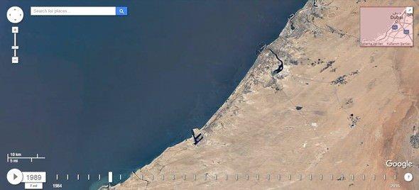Dubai'nin uydu görüntüleriyle 32 yıllık değişimi