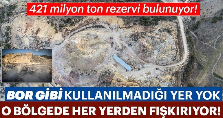 421milyon ton rezervi bulunuyor!  Bor gibi kullanılmadığı yer yok, O bölgede her yerden fışkırıyor!