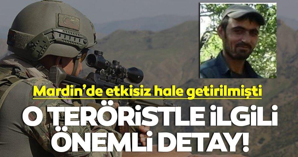 Etkisiz hale getirilen o terörist hakkında flaş detay!