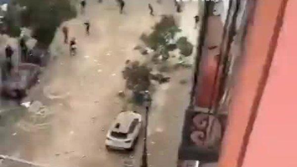 Son dakika: Madrid'deki şiddetli patlamadan ilk görüntüler | Video