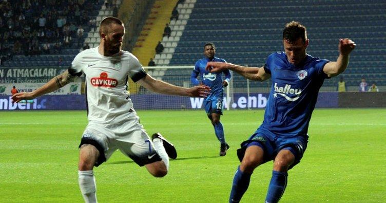 Kasımpaşa - Çaykur Rizespor maçında gol yağmuru