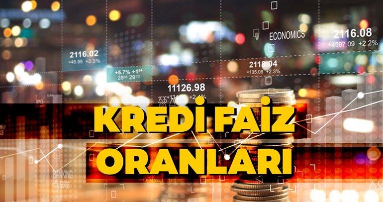 Kredi faiz oranları son durum! Ziraat, İş Bankası, Akbank, Garanti, Vakıfbank, Halkbank, Finansbank güncel kredi faiz oranları burada!