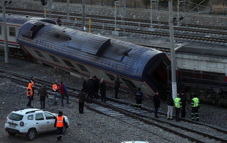 Son dakika: Ankara'da bakım için atölyeye giden tren raydan çıktı