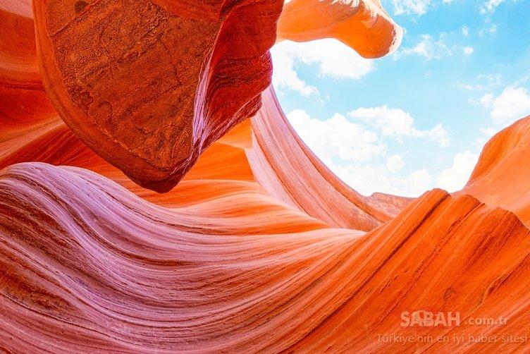 Görenleri hayran bırakan Antilop Kanyonu...