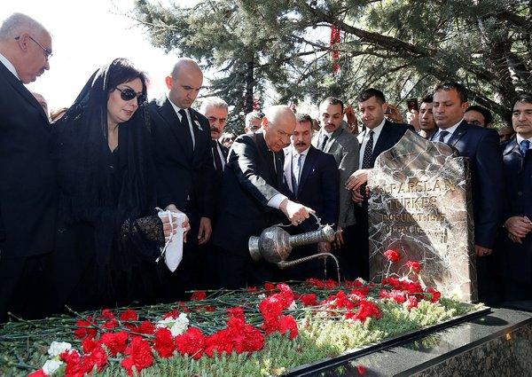 Alparslan Türkeş vefatının 21. yıldönümünde mezarı başında anıldı