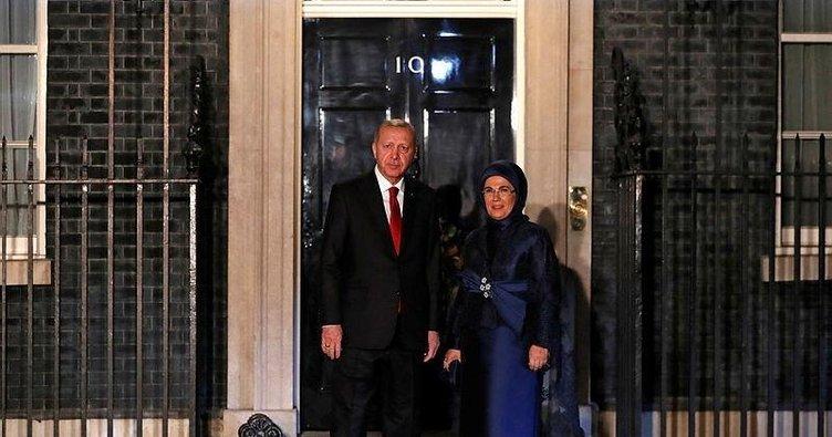 Başkan Erdoğan İngiltere Başbakanlık Ofisi'nde