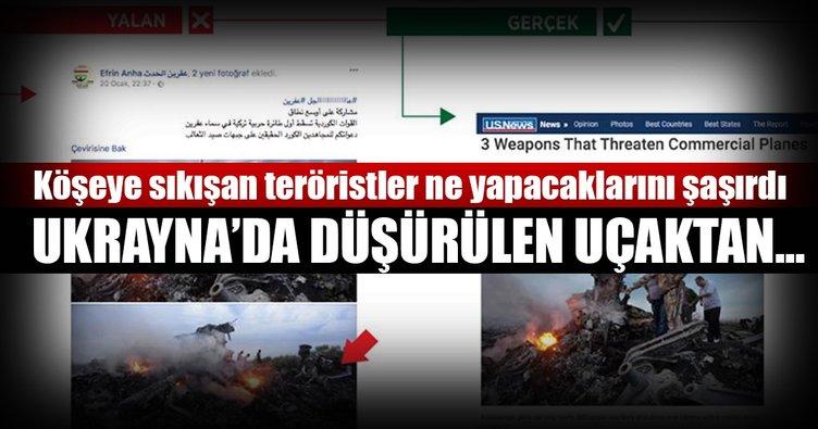 PKK'lılar Ukrayna'da düşürülen uçaktan Afrin yalanı üretti