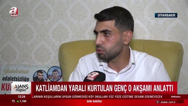 Diyarbakır'da Yasin Börü ve arkadaşlarının öldürüldüğü olaydan yaralı kurtulan Yusuf Er yaşadıklarını anlattı   Video