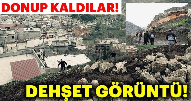 Diyarbakır'da bir ilçe diken üstünde... Çermik'te kayalar mahalleye yuvarlandı