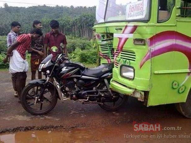 Hindistan'dan ilginç manzaralar!