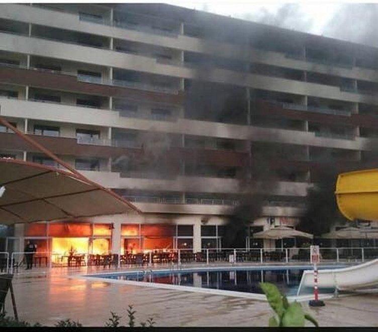 Hatay Erzin'de termal otelde yangın çıktı