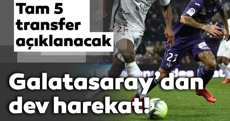 Son dakika: Galatasaray'dan dev transfer harekatı Tam 5 oyuncuyu açıklayacak