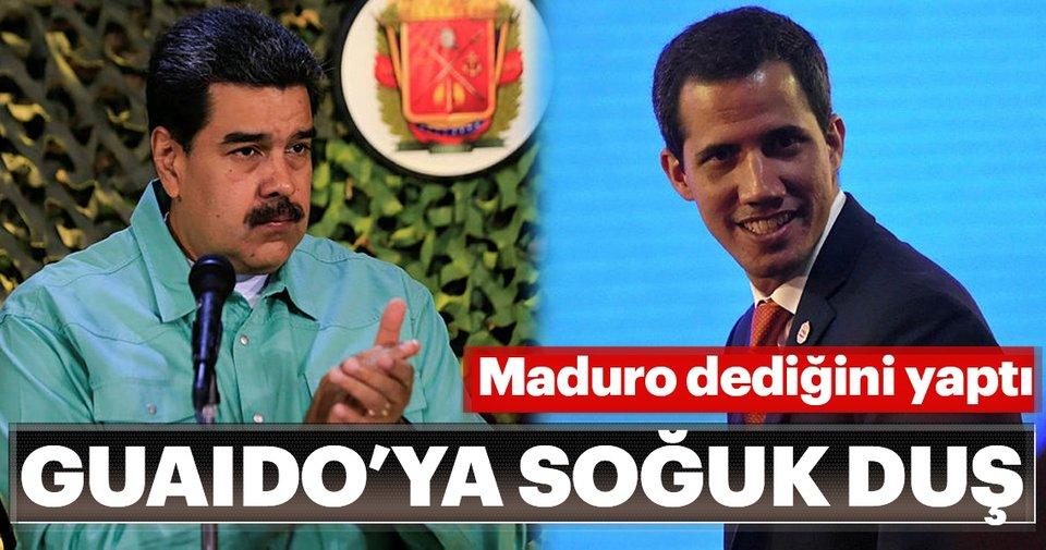 Maduro dediğini yaptı