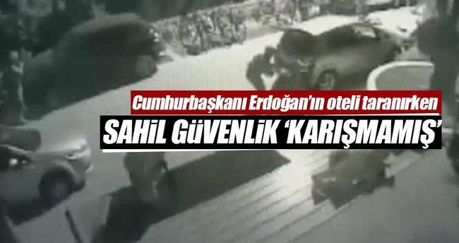 Cumhurbaşkanı Erdoğan'ın oteli taranırken Sahil Güvenlik 'Karışmamış'
