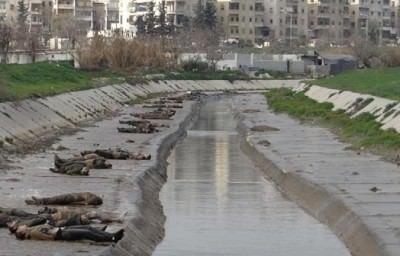 Suriye'de savaş suçu bu kez nehirden çıktı