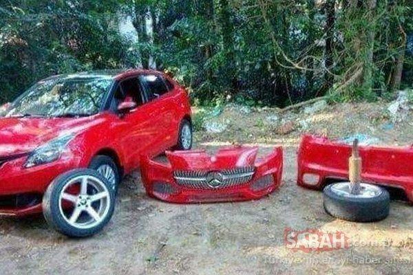 Otomobilin son hali şaşırttı!