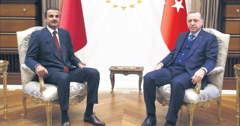 Erdoğan Katar Emiri ile 2.5 saat görüştü