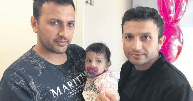 Minik Azra bebeğe amcası can verdi