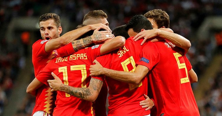 UEFA Uluslar Ligi'nde İspanya, İngiltere'yi 2 golle geçti