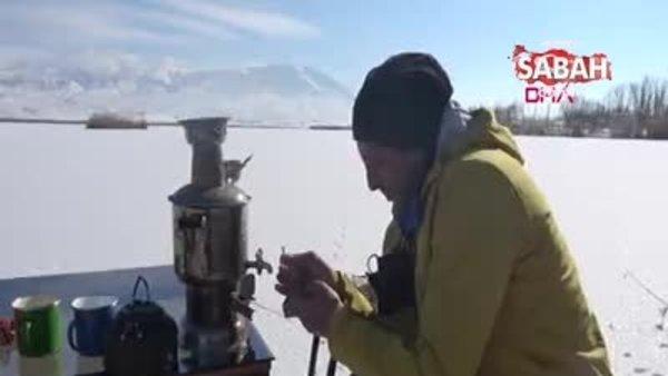 Sivas'ta akarsu ve göller dondu | Video