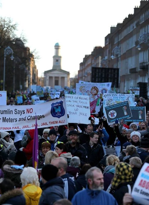 İrlanda'da protesto