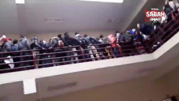 Üniversitede dehşet! Kavgada korkuluklar kırılınca 5. kattan böyle yere çakıldılar: 7 ölü | Video