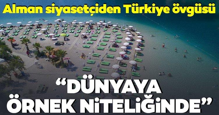 Alman siyasetçiden Türkiye turizmine övgü: Dünyaya örnek niteliğinde