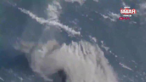Karayipler'deki La Soufriere Yanardağı'ndaki patlama uydudan görüntülendi | Video