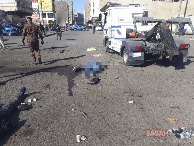 SON DAKİKA | Bağdat'ta intihar saldırısı: İşte patlama anı! Çok sayıda ölü var...