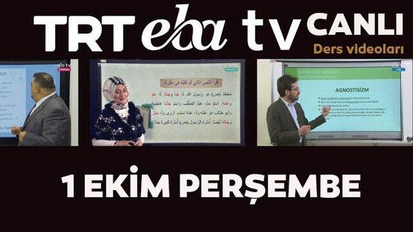 TRT EBA TV canlı izle! (1 Ekim 2020 Perşembe) 'Uzaktan Eğitim' Ortaokul, İlkokul, Lise kanalları canlı yayın   Video