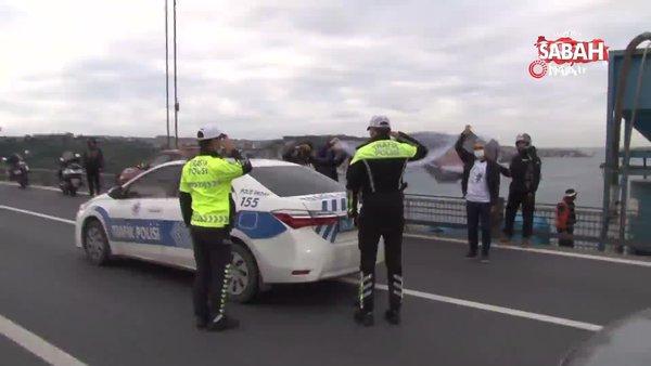 10 Kasım'da İstanbul 15 Temmuz Şehitler Köprüsü'nde Ata'ya saygı duruşu | Video