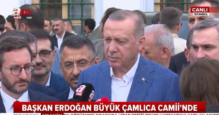 Başkan Erdoğan'dan Bayram namazı sonrası önemli açıklamalar