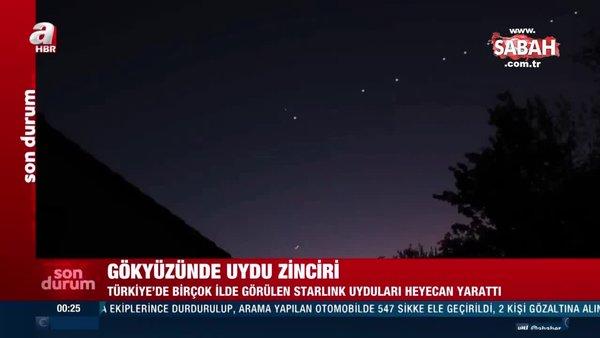 Türkiye'de merak uyandıran sıralı ışıklar | Video