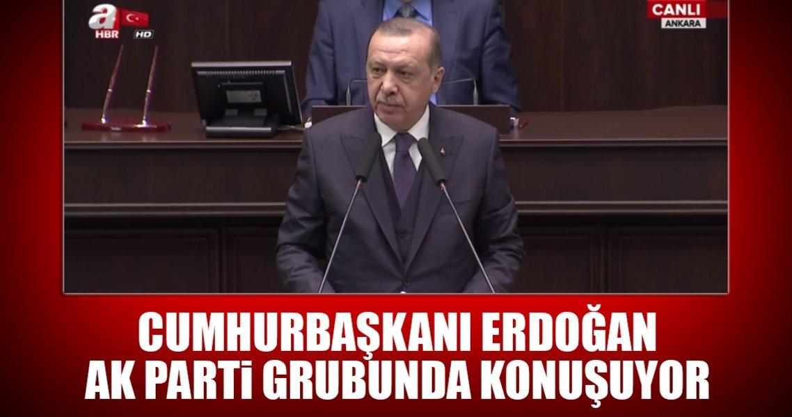 Cumhurbaşkanı Erdoğan AK Parti grup toplantısında konuşuyor