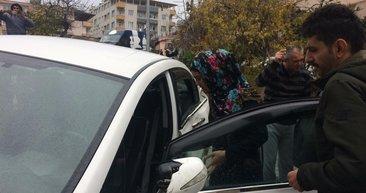 Hatay'da bir kadın sürücü hayatının şokunu yaşadı