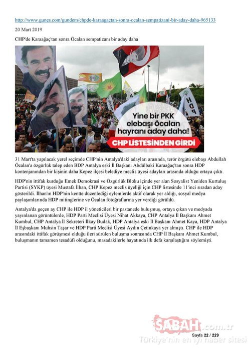 İşte CHP, Saadet Partisi ve İYİ Parti'nin PKK ile bağlantılı adayları!