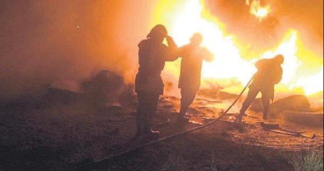 Sanayi sitesinde yangın